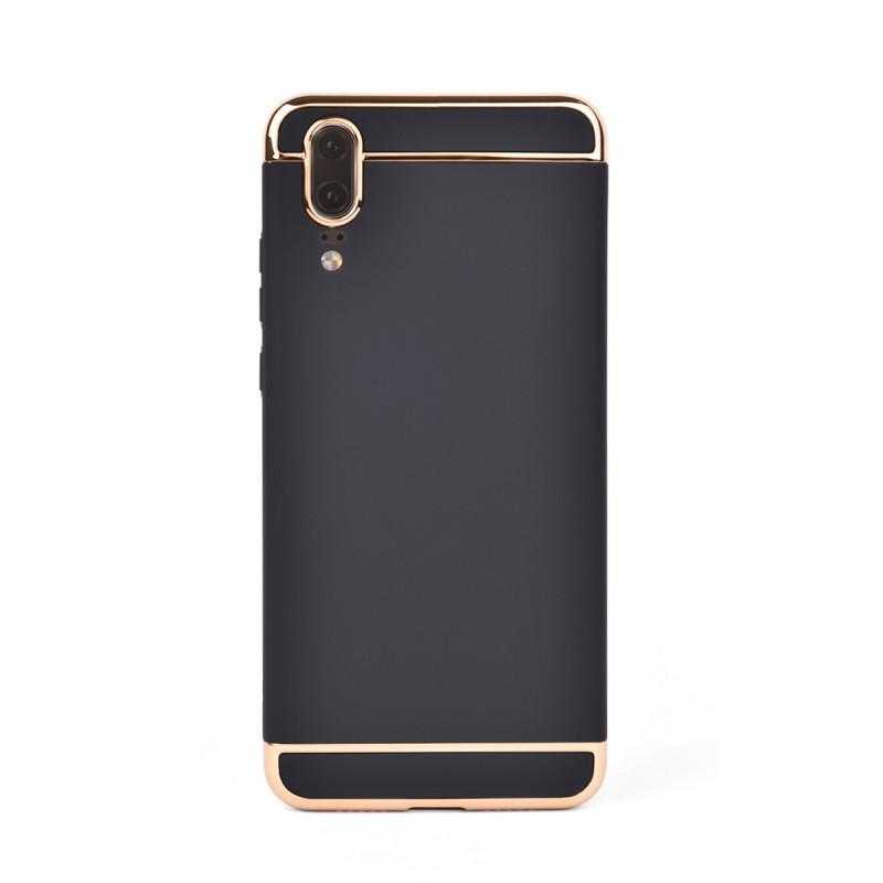 Луксозен кейс/калъф от 3 части за Huawei P20, Case, Твърд, Черен
