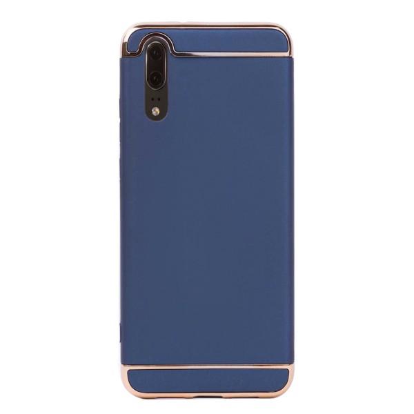 Луксозен кейс/калъф от 3 части за Huawei P20, Case, Твърд, Син