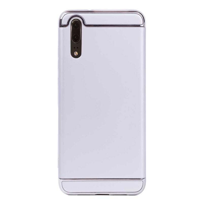 Луксозен кейс/калъф от 3 части за Huawei P20, Case, Твърд, Сребрист