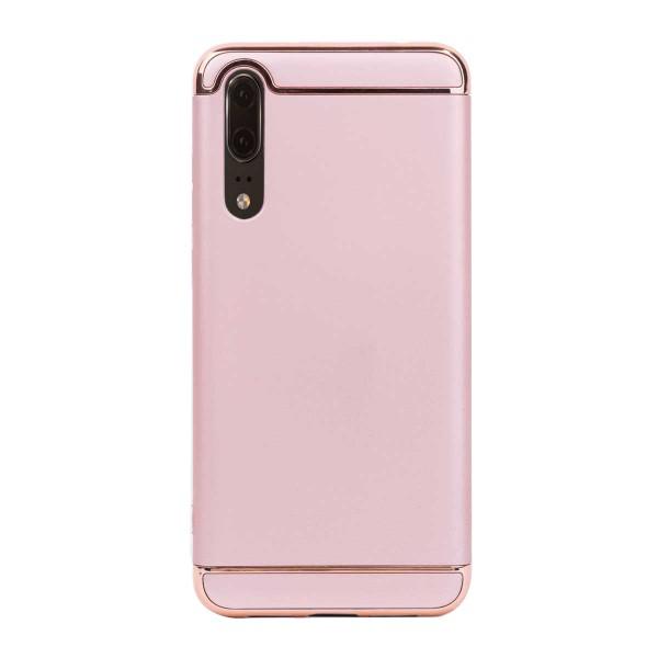 Луксозен кейс/калъф от 3 части за Huawei P20, Case, Твърд, Розово злато
