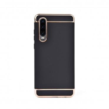 Луксозен кейс/калъф от 3 части за Huawei P30, Case, Твърд, Черен
