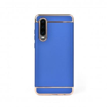 Луксозен кейс/калъф от 3 части за Huawei P30, Case, Твърд, Син
