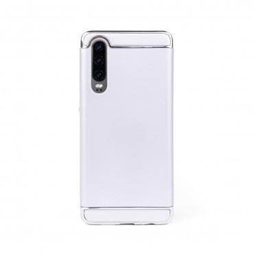 Луксозен кейс/калъф от 3 части за Huawei P30, Case, Твърд, Сребрист