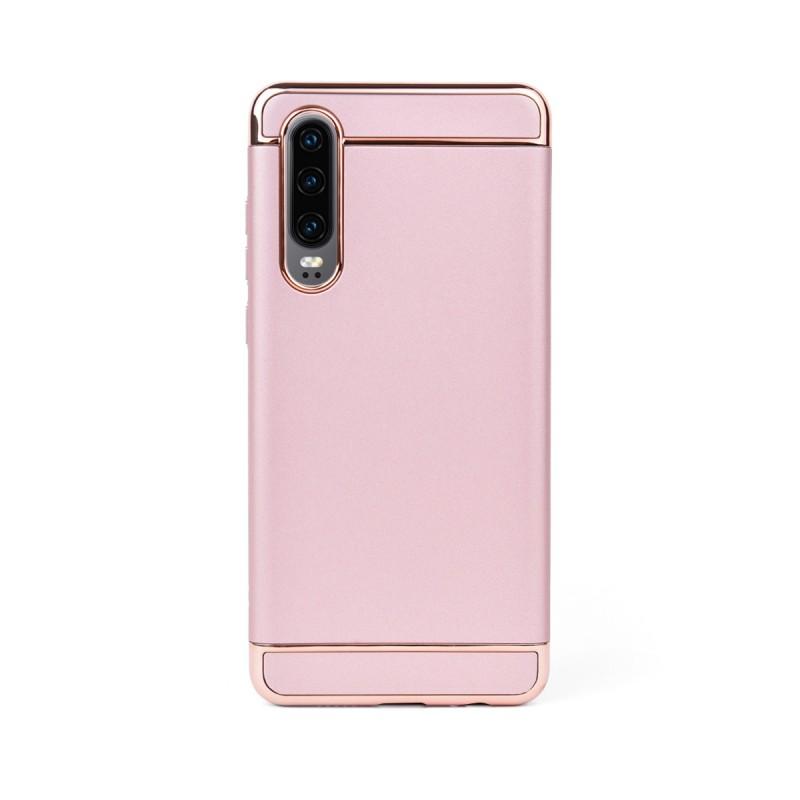 Луксозен кейс/калъф от 3 части за Huawei P30, Case, Твърд, Розово злато