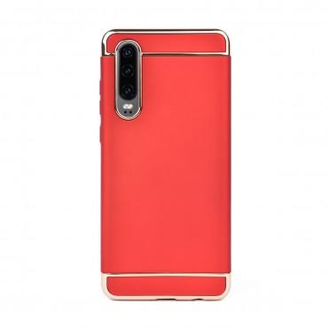 Луксозен кейс/калъф от 3 части за Huawei P30, Case, Твърд, Червен
