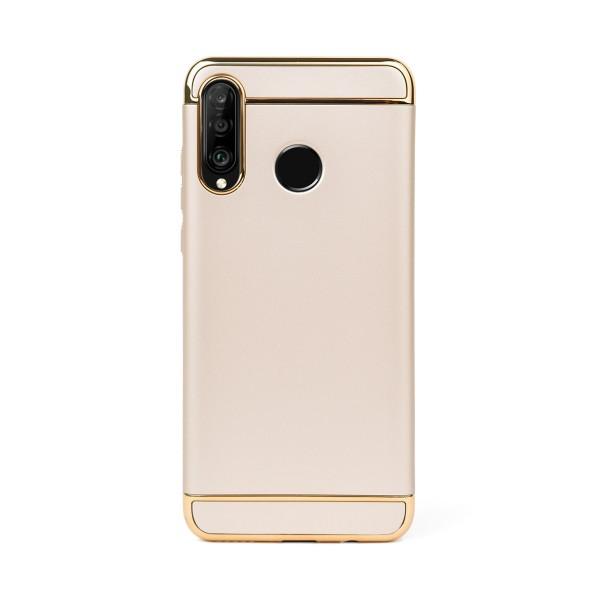 Луксозен кейс/калъф от 3 части за Huawei P30 Lite, Case, Твърд, Златист