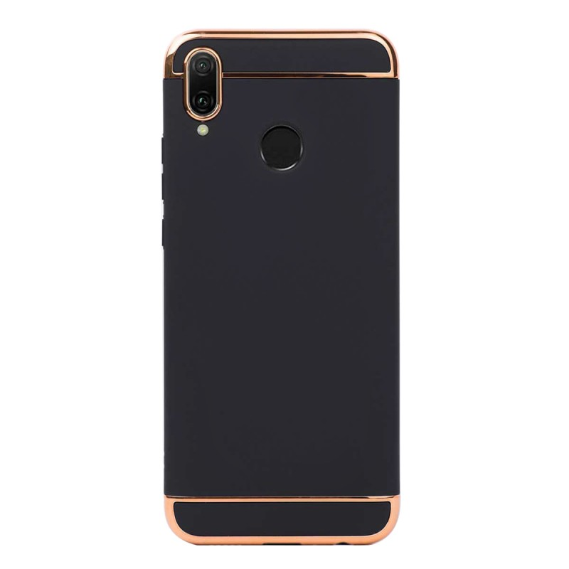 Луксозен кейс/калъф от 3 части за Huawei Y9 (2019), Case, Твърд, Черен
