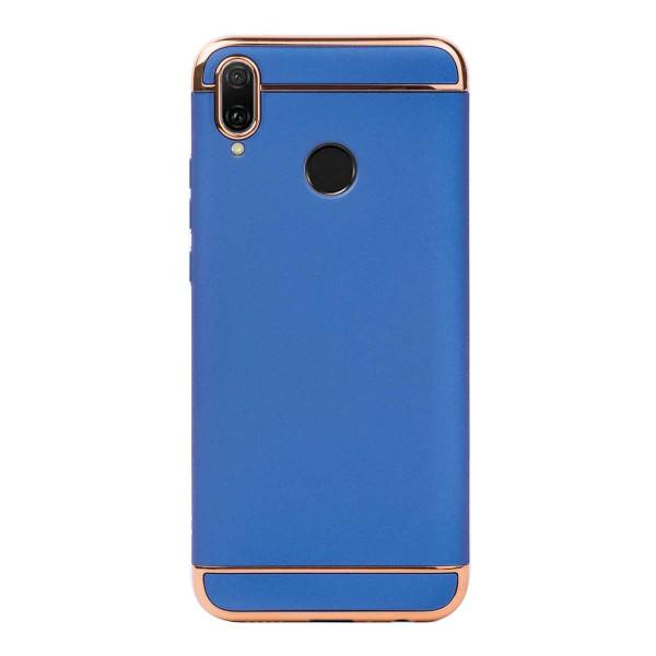 Луксозен кейс/калъф от 3 части за Huawei Y9 (2019), Case, Твърд, Син