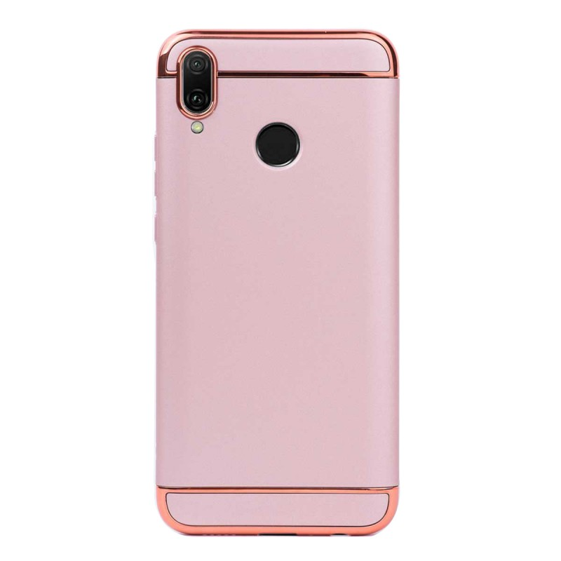 Луксозен кейс/калъф от 3 части за Huawei Y9 (2019), Case, Твърд, Розово злато