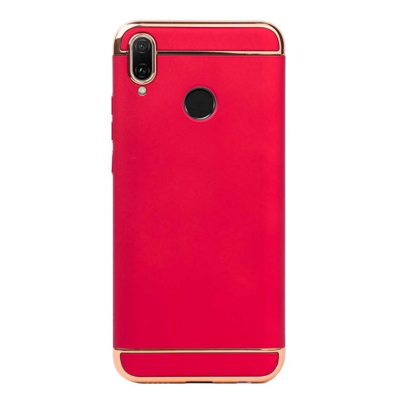 Луксозен кейс/калъф от 3 части за Huawei Y9 (2019), Case, Твърд, Червен