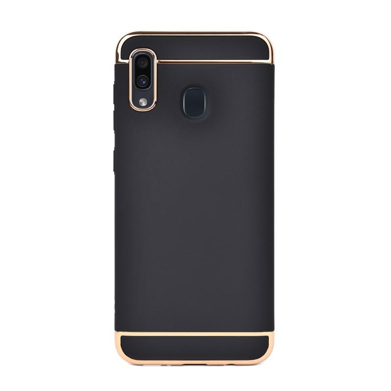 Луксозен кейс/калъф от 3 части за Samsung Galaxy A30, Case, Твърд, Черен