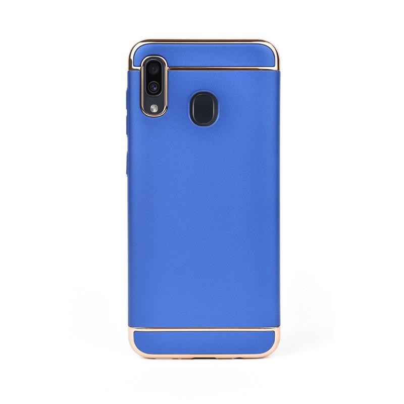 Луксозен кейс/калъф от 3 части за Samsung Galaxy A20, Case, Твърд, Син