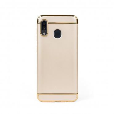 Луксозен кейс/калъф от 3 части за Samsung Galaxy A20, Case, Твърд, Златист