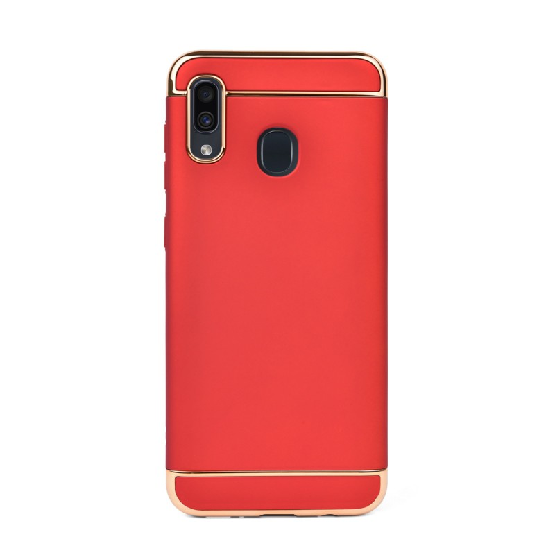 Луксозен кейс/калъф от 3 части за Samsung Galaxy A30, Case, Твърд, Червен