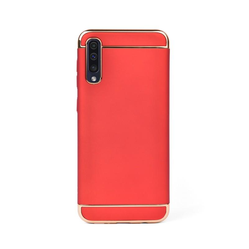 Луксозен кейс/калъф от 3 части за Samsung Galaxy A50, Case, Твърд, Червен