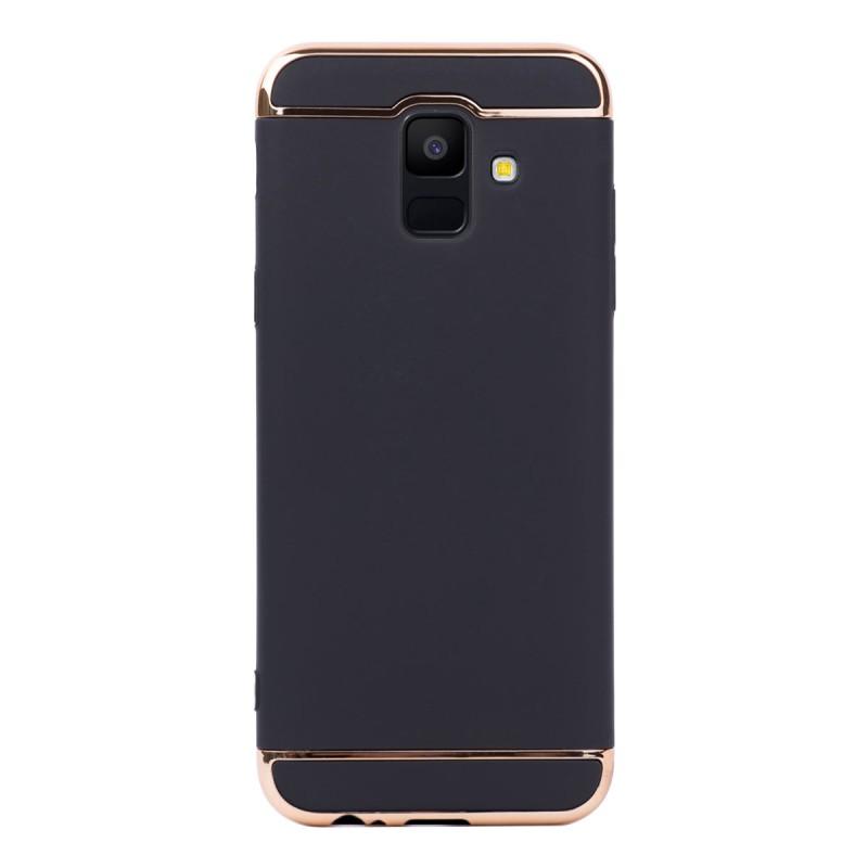 Луксозен кейс/калъф от 3 части за Samsung Galaxy A6 (2018), Case, Твърд, Черен