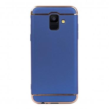 Луксозен кейс/калъф от 3 части за Samsung Galaxy A6 (2018), Case, Твърд, Син