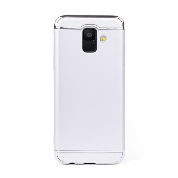 Луксозен кейс/калъф от 3 части за Samsung Galaxy A6 (2018), Case, Твърд, Сребрист