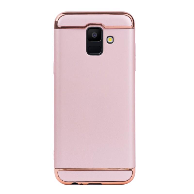Луксозен кейс/калъф от 3 части за Samsung Galaxy A6 (2018), Case, Твърд, Розово злато