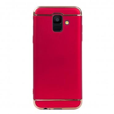 Луксозен кейс/калъф от 3 части за Samsung Galaxy A6 (2018), Case, Твърд, Червен