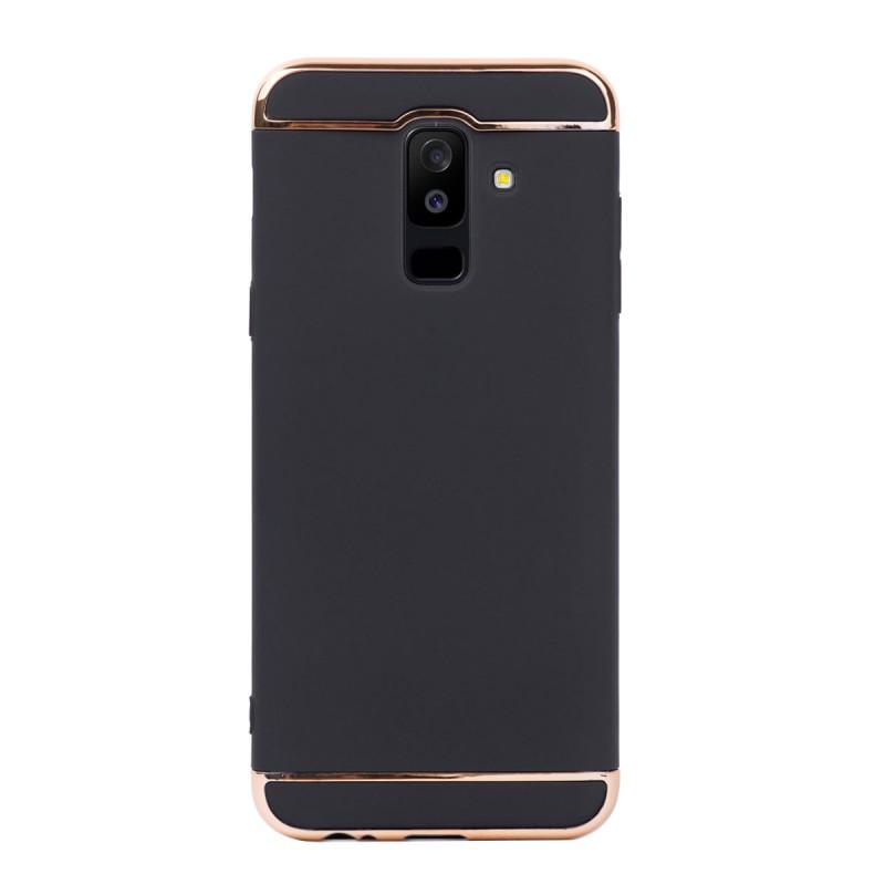 Луксозен кейс/калъф от 3 части за Samsung Galaxy A6 Plus (2018), Case, Твърд, Черен