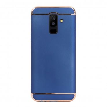 Луксозен кейс/калъф от 3 части за Samsung Galaxy A6 Plus (2018), Case, Твърд, Син