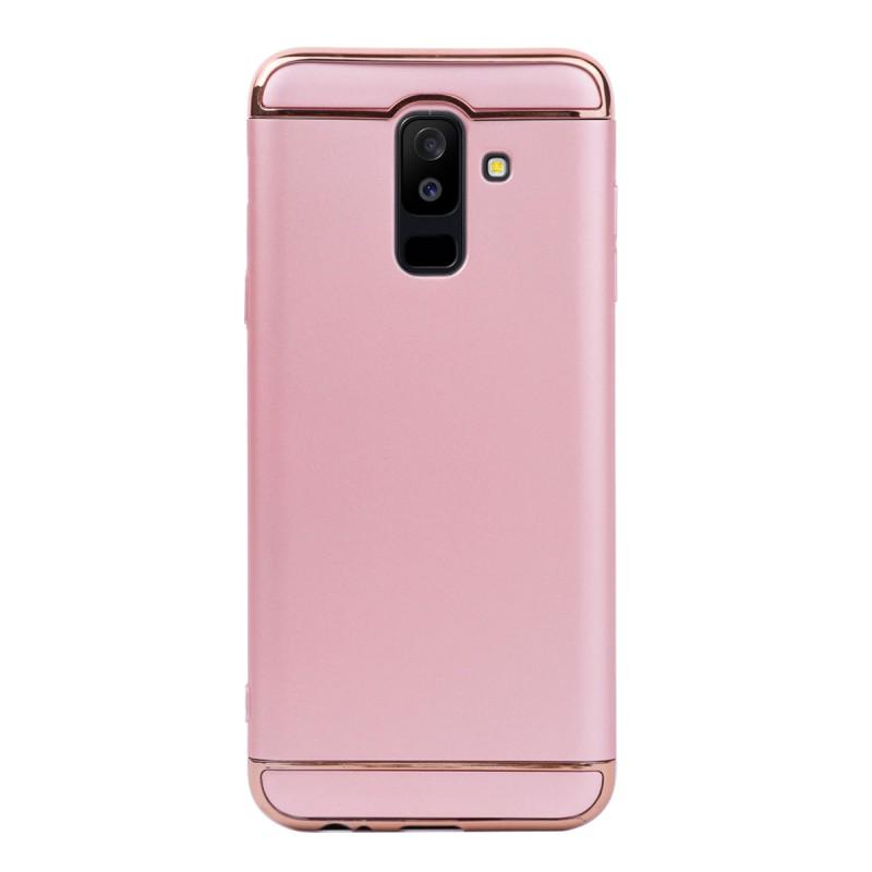 Луксозен кейс/калъф от 3 части за Samsung Galaxy A6 Plus (2018), Case, Твърд, Розово злато