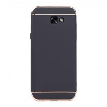 Луксозен кейс/калъф от 3 части за Samsung Galaxy A7 (2017), Case, Твърд, Черен