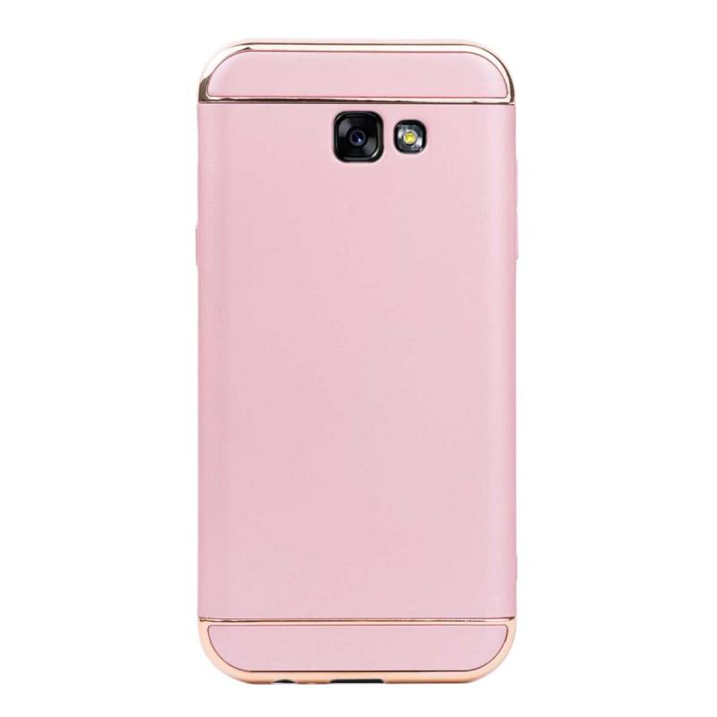 Луксозен кейс/калъф от 3 части за Samsung Galaxy A7 (2017), Case, Твърд, Розово злато