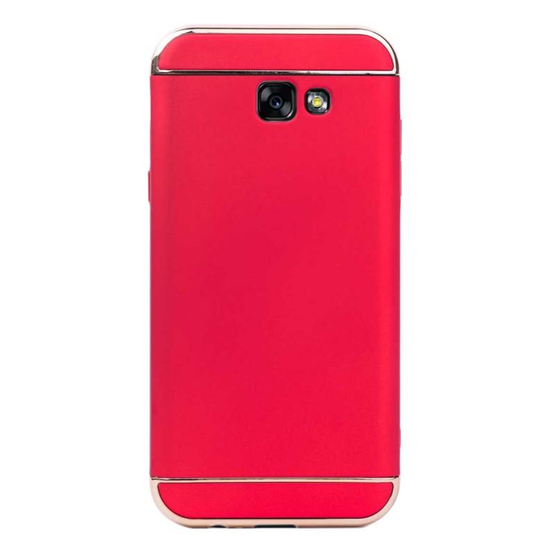 Луксозен кейс/калъф от 3 части за Samsung Galaxy A7 (2017), Case, Твърд, Червен