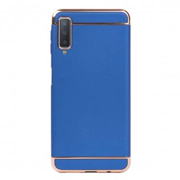Луксозен кейс/калъф от 3 части за Samsung Galaxy A7 (2018), Case, Твърд, Син