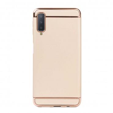 Луксозен кейс/калъф от 3 части за Samsung Galaxy A7 (2018), Case, Твърд, Златист