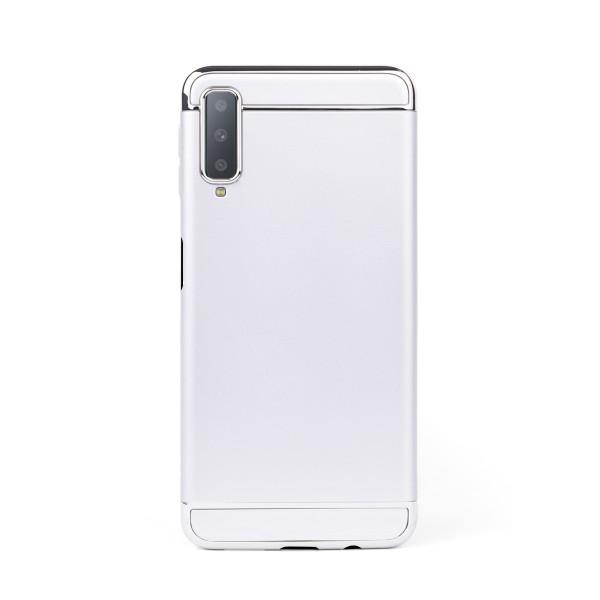 Луксозен кейс/калъф от 3 части за Samsung Galaxy A7 (2018), Case, Твърд, Сребрист