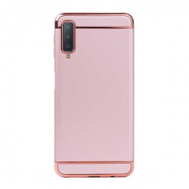 Луксозен кейс/калъф от 3 части за Samsung Galaxy A7 (2018), Case, Твърд, Розово злато