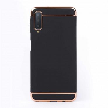 Луксозен кейс/калъф от 3 части за Samsung Galaxy A7 (2018), Case, Твърд, Черен