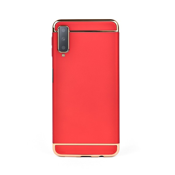 Луксозен кейс/калъф от 3 части за Samsung Galaxy A7 (2018), Case, Твърд, Червен