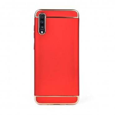 Луксозен кейс/калъф от 3 части за Samsung Galaxy A70, Case, Твърд, Червен