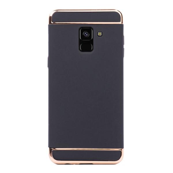 Луксозен кейс/калъф от 3 части за Samsung Galaxy A8 (2018), Case, Твърд, Черен