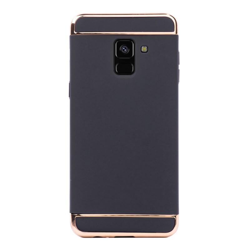 Луксозен кейс/калъф от 3 части за Samsung Galaxy A8 Plus (2018), Case, Твърд, Черен