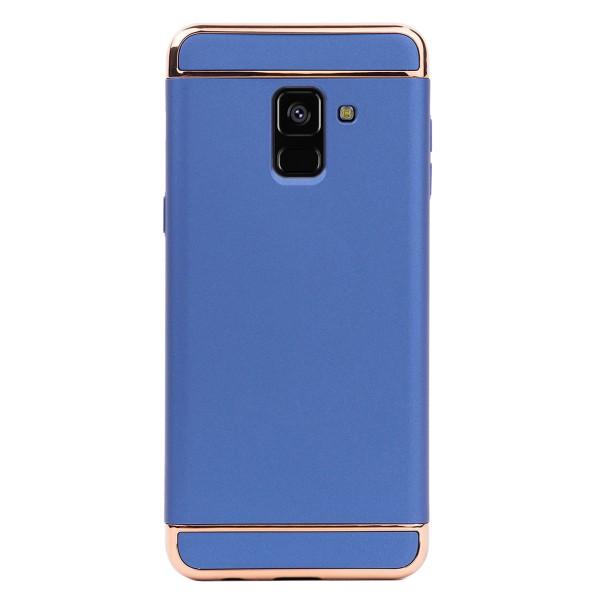 Луксозен кейс/калъф от 3 части за Samsung Galaxy A8 (2018), Case, Твърд, Син