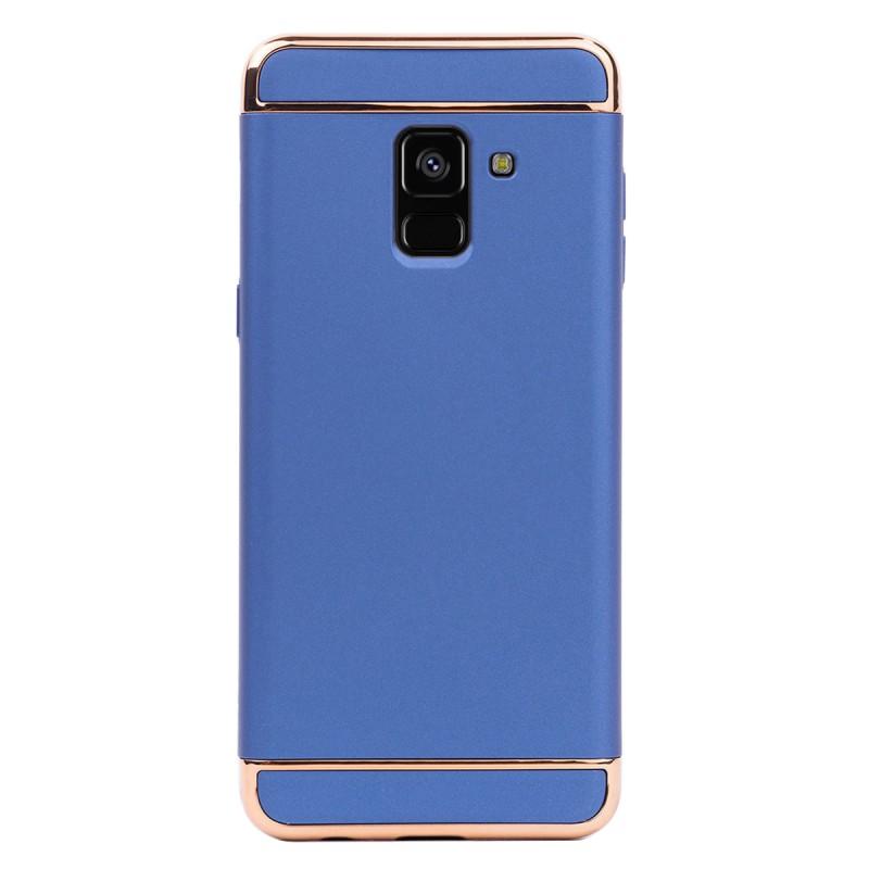 Луксозен кейс/калъф от 3 части за Samsung Galaxy A8 Plus (2018), Case, Твърд, Син