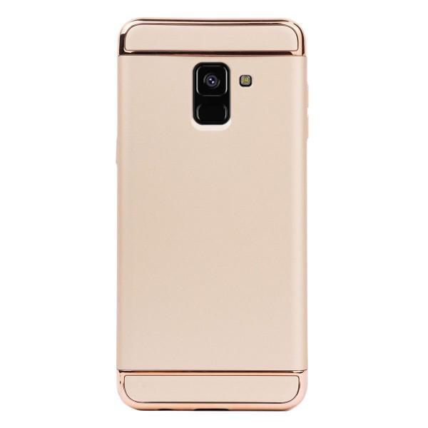Луксозен кейс/калъф от 3 части за Samsung Galaxy A8 (2018), Case, Твърд, Златист