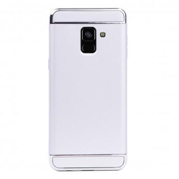 Луксозен кейс/калъф от 3 части за Samsung Galaxy A8 Plus (2018), Case, Твърд, Сребрист