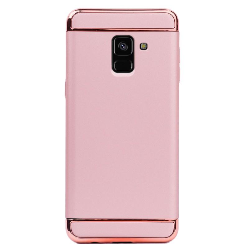 Луксозен кейс/калъф от 3 части за Samsung Galaxy A8 Plus (2018), Case, Твърд, Розово злато