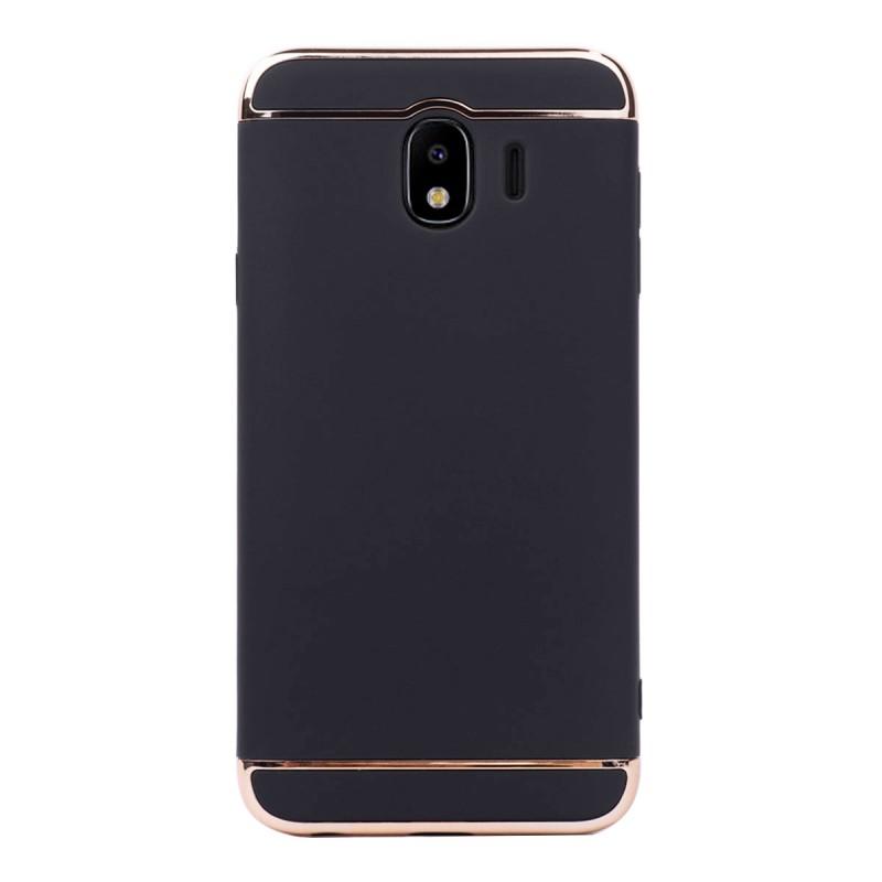 Луксозен кейс/калъф от 3 части за Samsung Galaxy J4 (2018), Case, Твърд, Черен