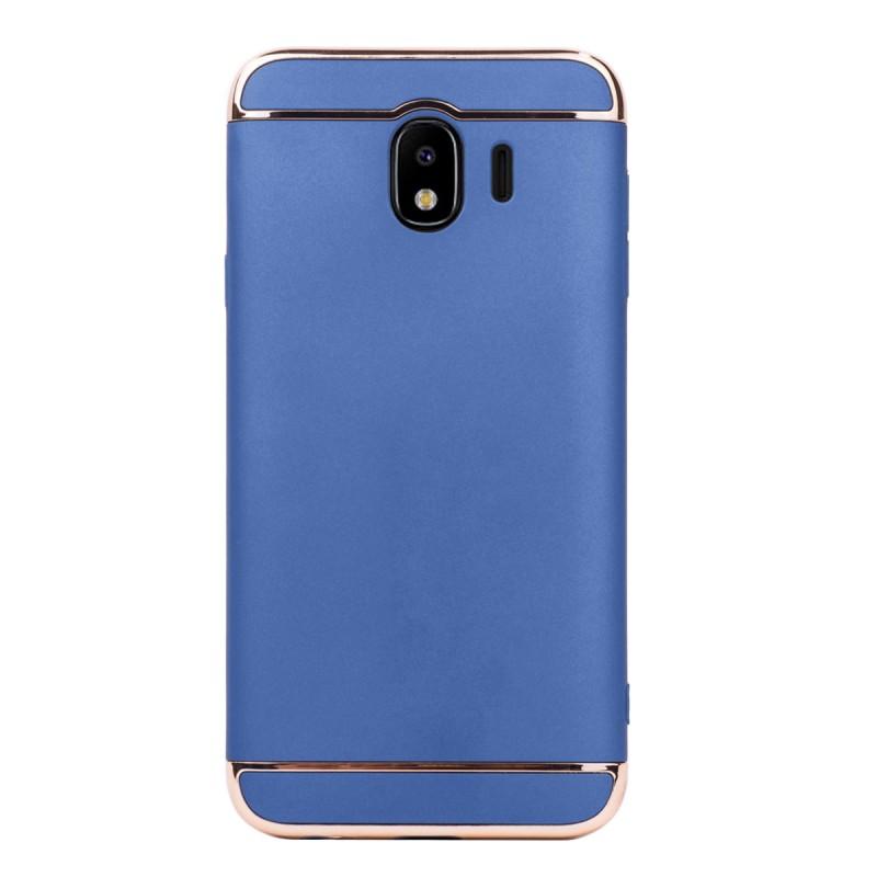 Луксозен кейс/калъф от 3 части за Samsung Galaxy J4 (2018), Case, Твърд, Син