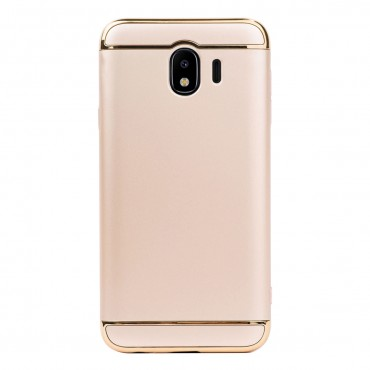 Луксозен кейс/калъф от 3 части за Samsung Galaxy J4 (2018), Case, Твърд, Златист