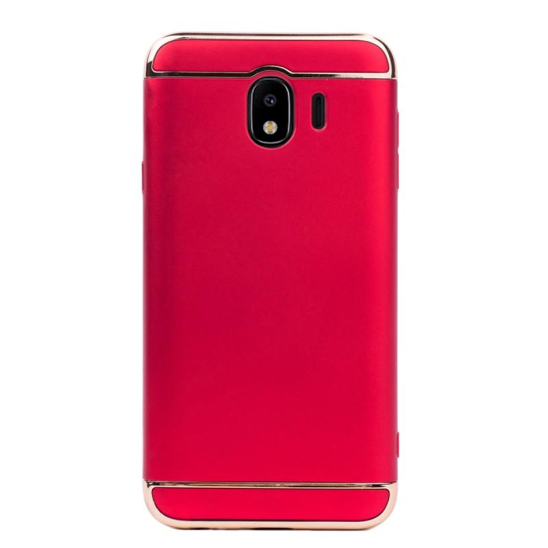 Луксозен кейс/калъф от 3 части за Samsung Galaxy J4 (2018), Case, Твърд, Червен