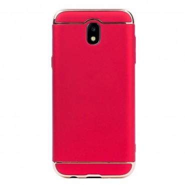 Луксозен кейс/калъф от 3 части за Samsung Galaxy J5 (2017), Case, Твърд, Червен