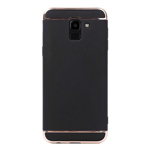 Луксозен кейс/калъф от 3 части за Samsung Galaxy J6 (2018), Case, Твърд, Черен
